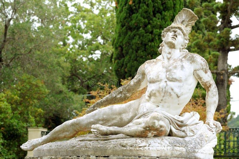 Estatua de Achiles de muerte imagen de archivo