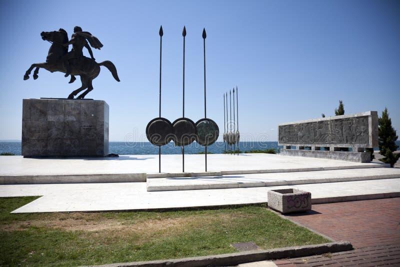 Estatua de Alexander el grande foto de archivo