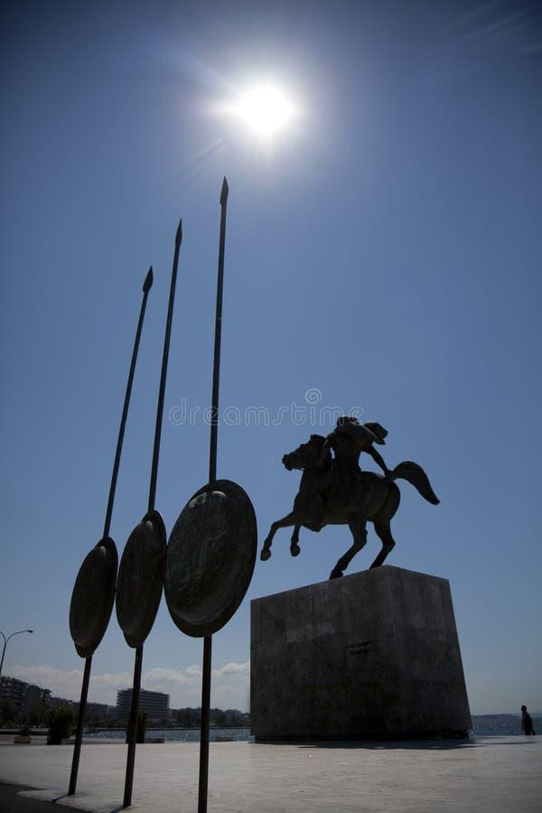 Estatua de Alexander el grande foto de archivo libre de regalías