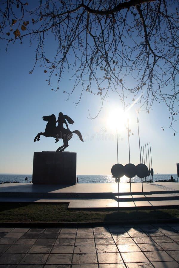 Estatua de Alexander el grande fotografía de archivo