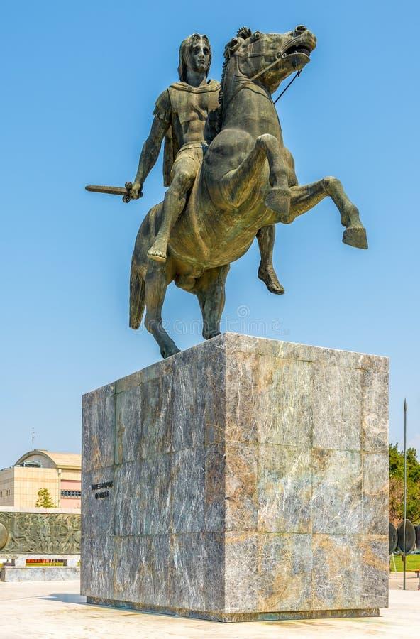 Estatua de Alexander el grande imagen de archivo