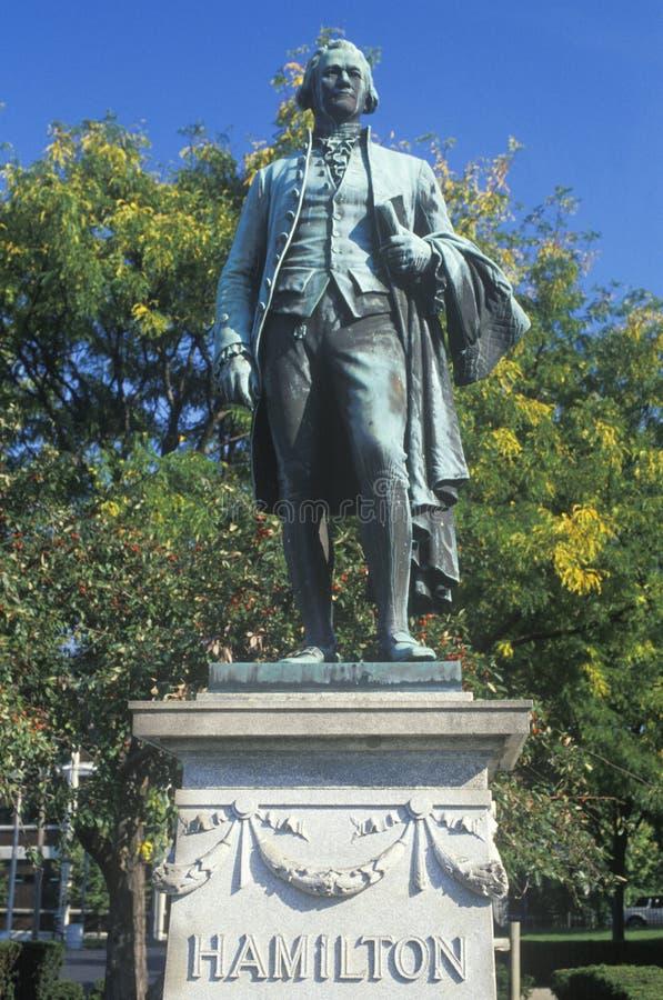 Estatua de Alexander Hamilton fotografía de archivo