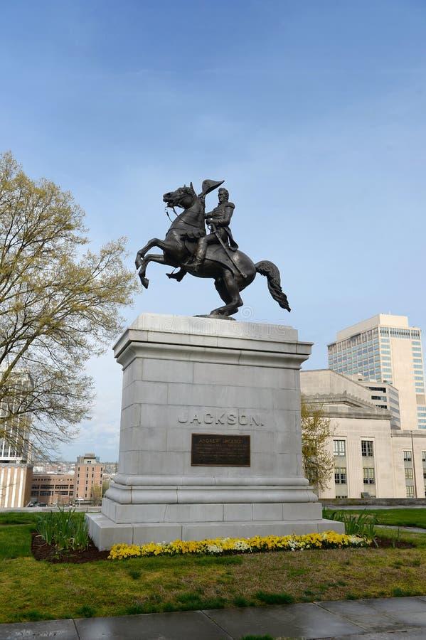 Estatua de Andrew Jackson en Nashville imágenes de archivo libres de regalías