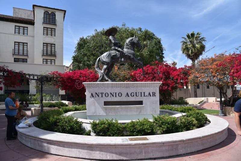 Estatua de Antonio Aguilar en Los Angeles fotos de archivo libres de regalías