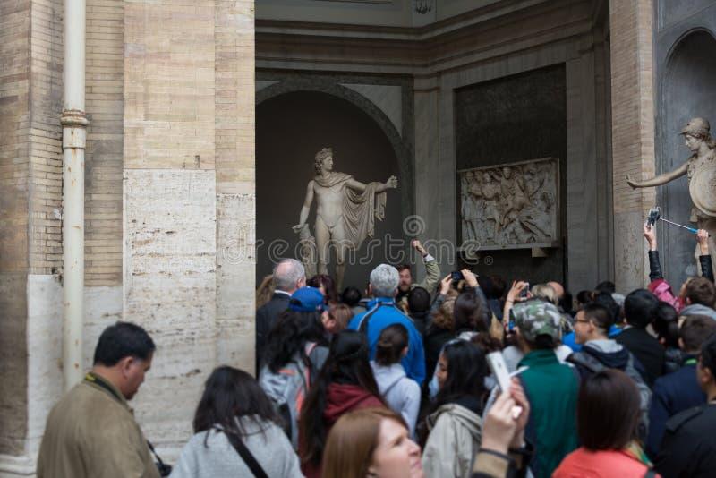 Estatua de Apollo Belvedere imagen de archivo