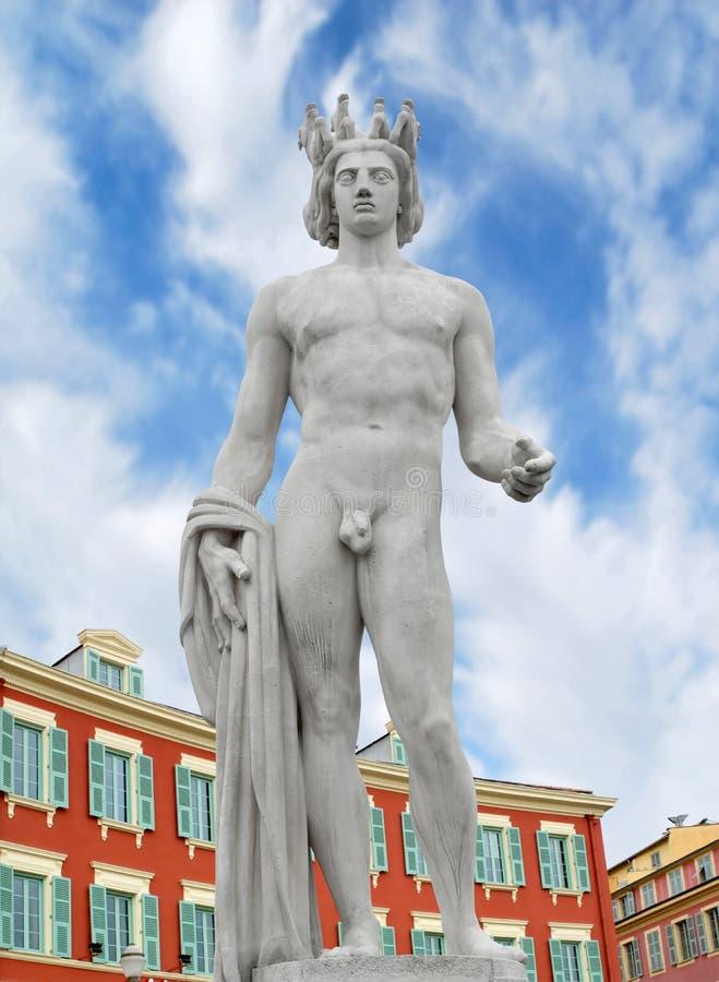 Estatua de Apolo fotos de archivo