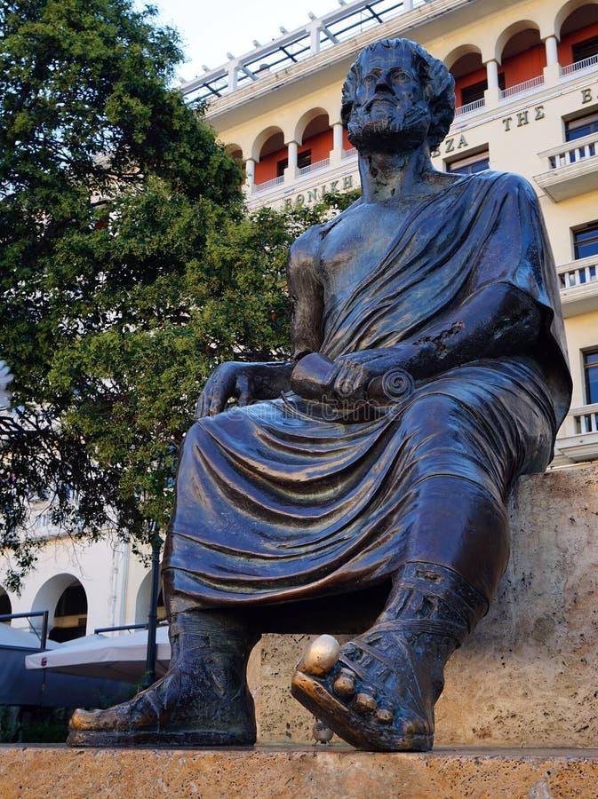 Estatua de Aristóteles, Salónica, Grecia fotografía de archivo libre de regalías