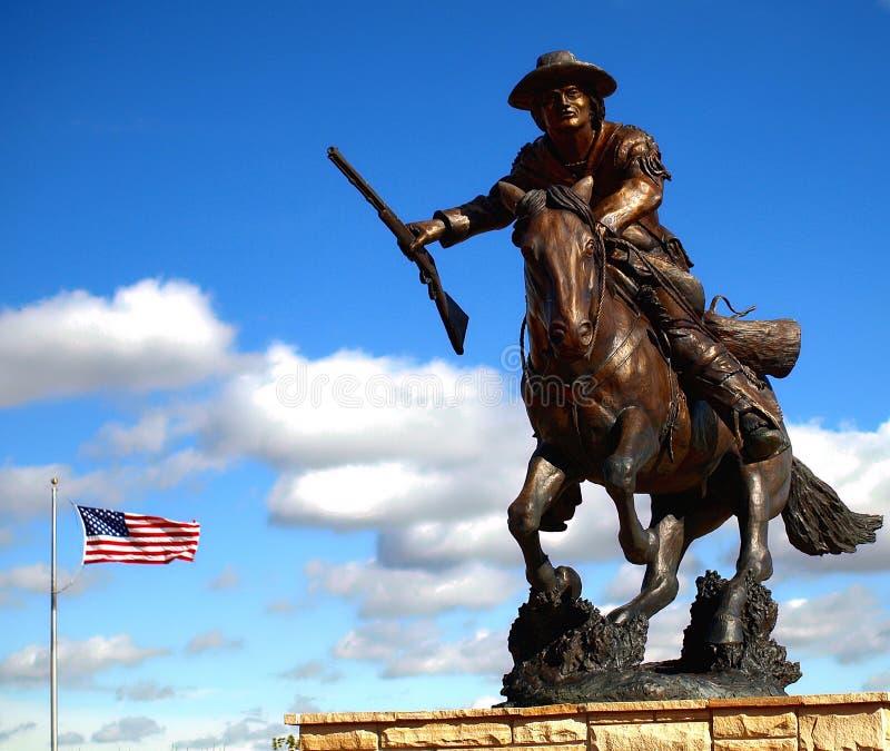 Estatua de bronce de Carson del kit foto de archivo libre de regalías