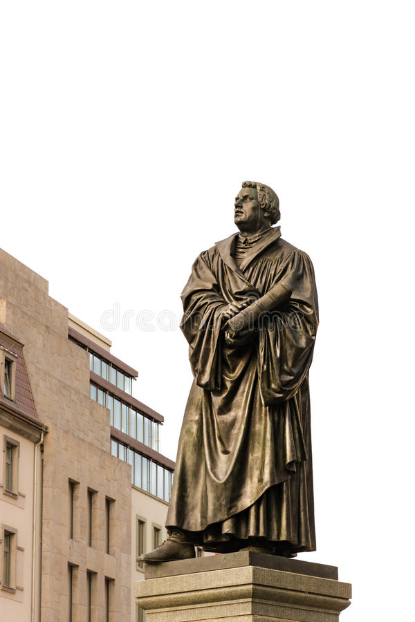 Estatua de Bronce de Martin Luther fotografía de archivo libre de regalías