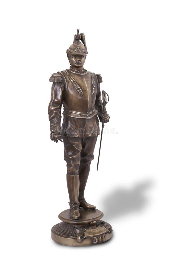 Estatua de bronce del coracero francés. imagen de archivo