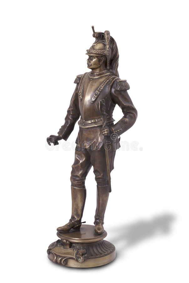Estatua de bronce del coracero francés. imagen de archivo libre de regalías