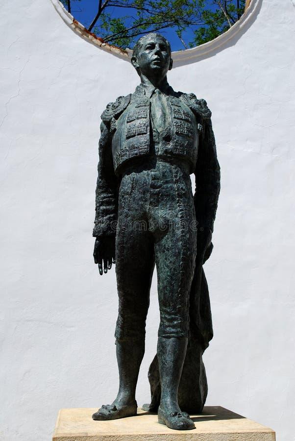Estatua de bronce del matador Antonio Ordonez, Ronda, España fotografía de archivo libre de regalías