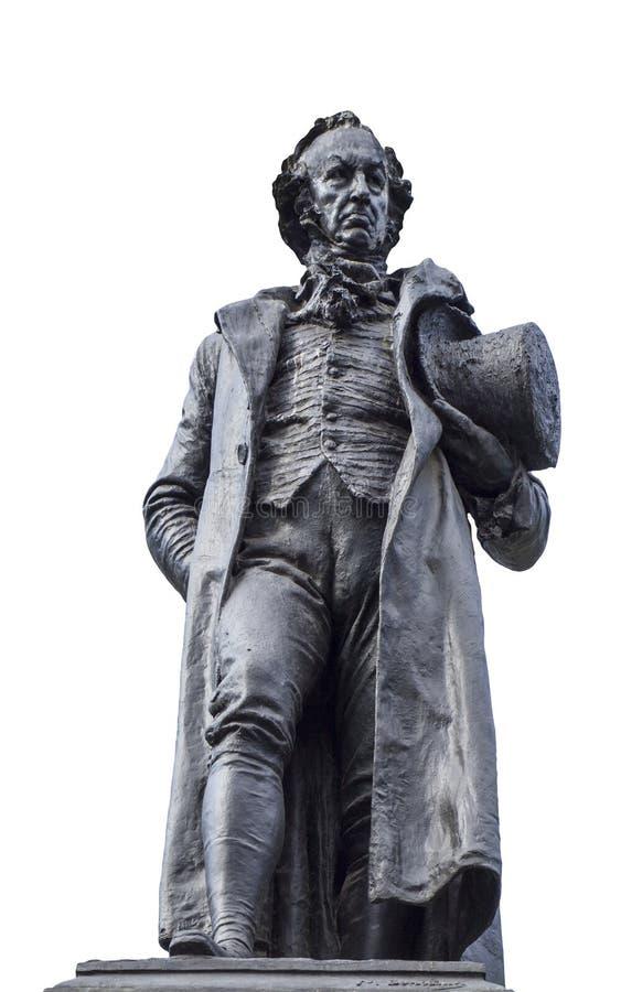 Estatua de bronce de Francisco de Goya fotografía de archivo