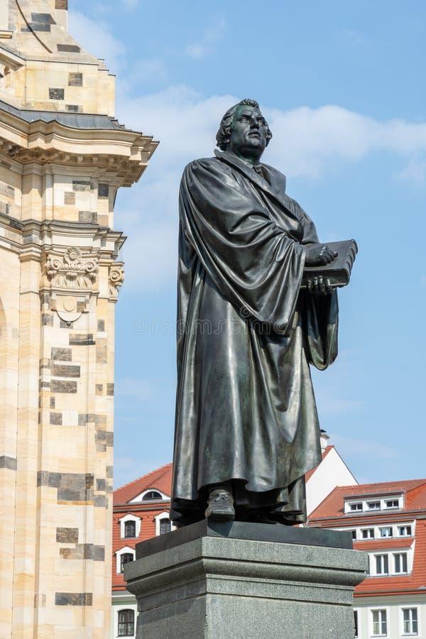 Estatua de Bronce de Martin Luther fotografía de archivo