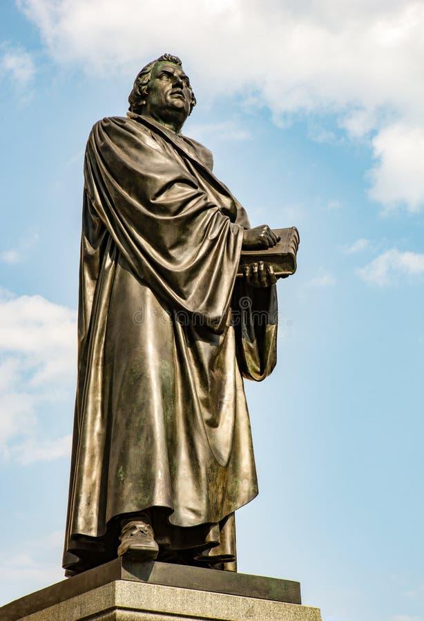 Estatua de Bronce de Martin Luther fotos de archivo