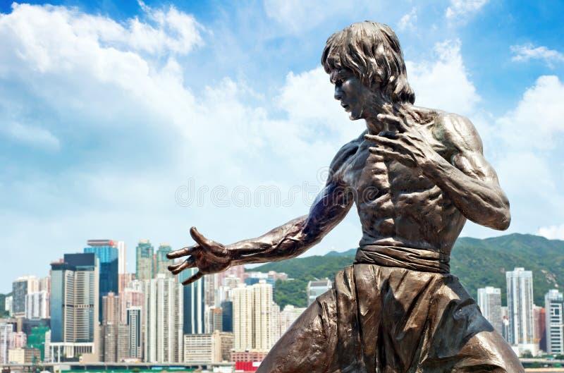 Estatua de Bruce Lee imagen de archivo libre de regalías