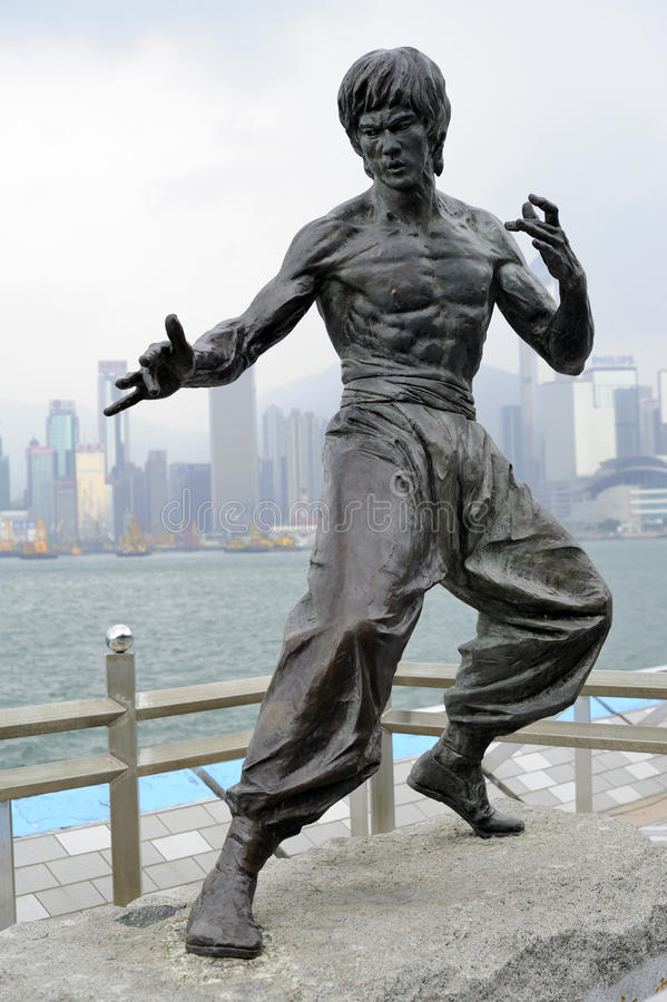 Estatua de Bruce Lee imágenes de archivo libres de regalías