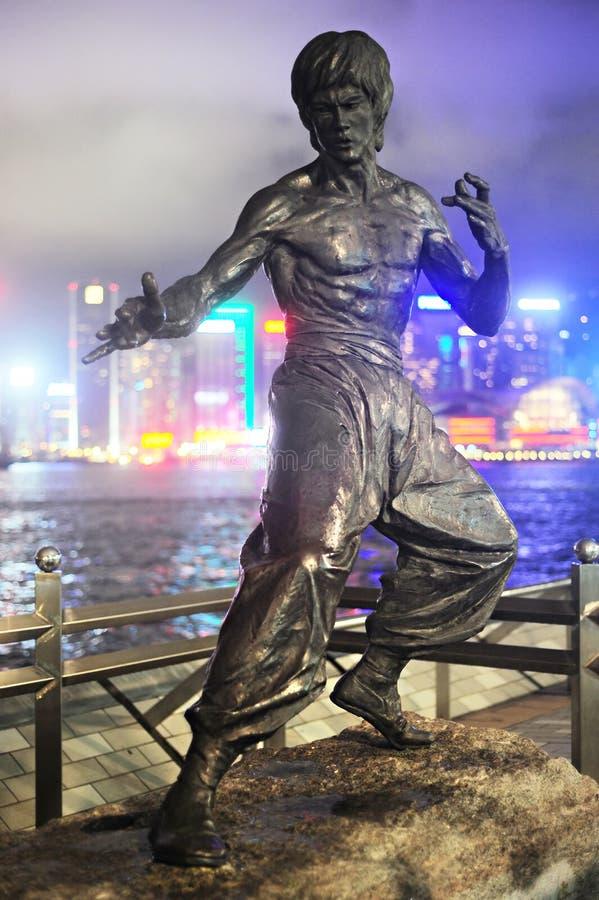 Estatua de Bruce Lee foto de archivo libre de regalías