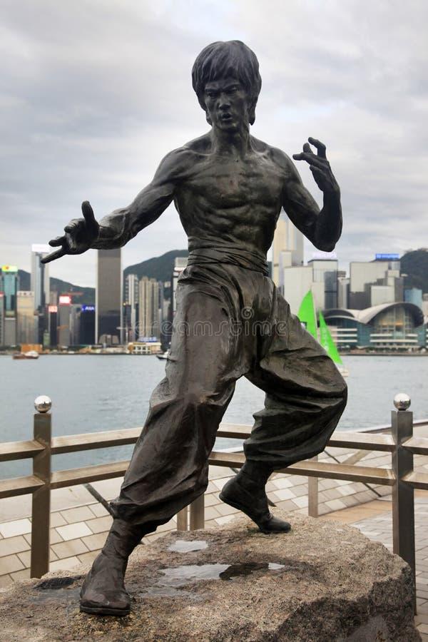 Estatua de Bruce Lee fotografía de archivo