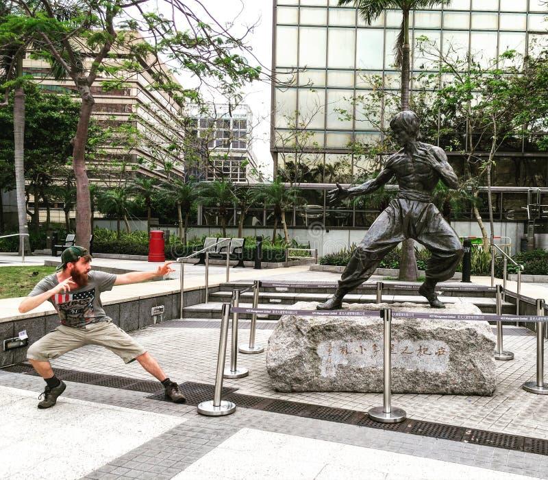 Estatua de Bruce Lee fotografía de archivo libre de regalías