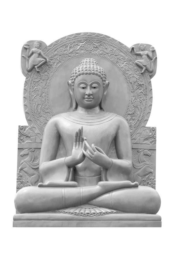 Estatua de Buda aislada contra blanco imagen de archivo libre de regalías