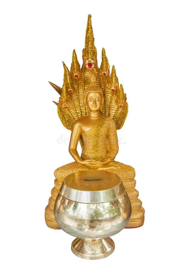 Estatua de Buda del aislante imagen de archivo