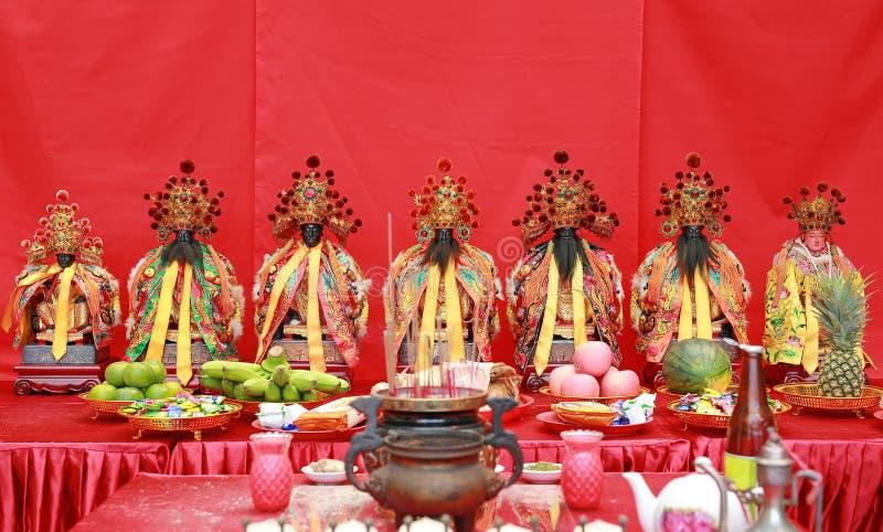 Estatua de Buda en capilla china fotografía de archivo libre de regalías