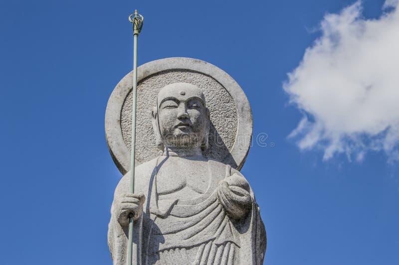 Estatua de Buda en el templo Osaka Japan de Shitennoji imagen de archivo