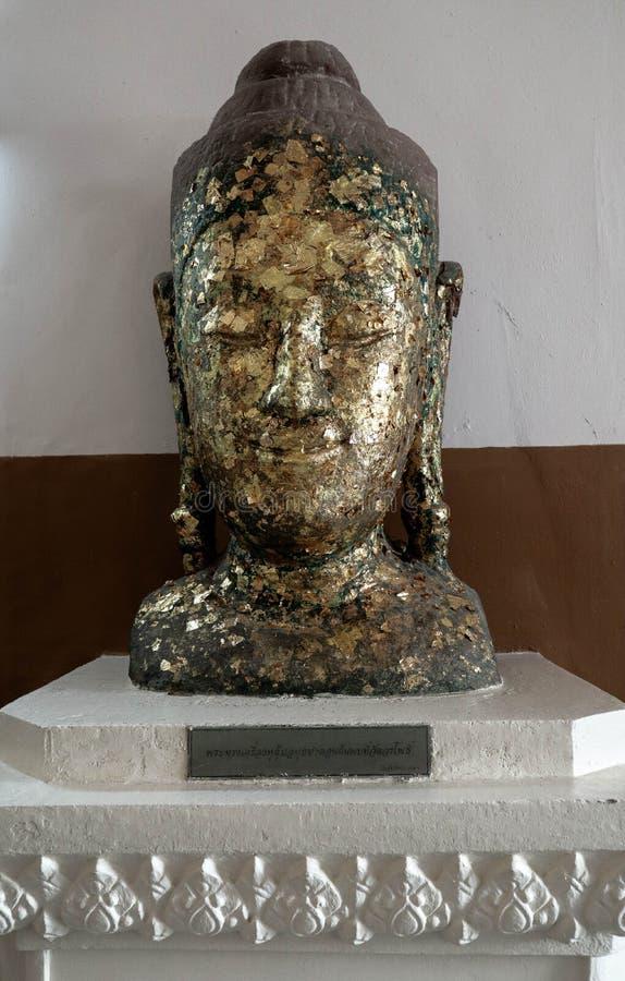Estatua de Buda, escultura de Ayutthaya para los centenares de años imagen de archivo libre de regalías