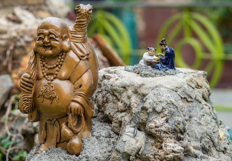 Estatua de Buda que viaja en Chinatown, Los Amgeles California imágenes de archivo libres de regalías