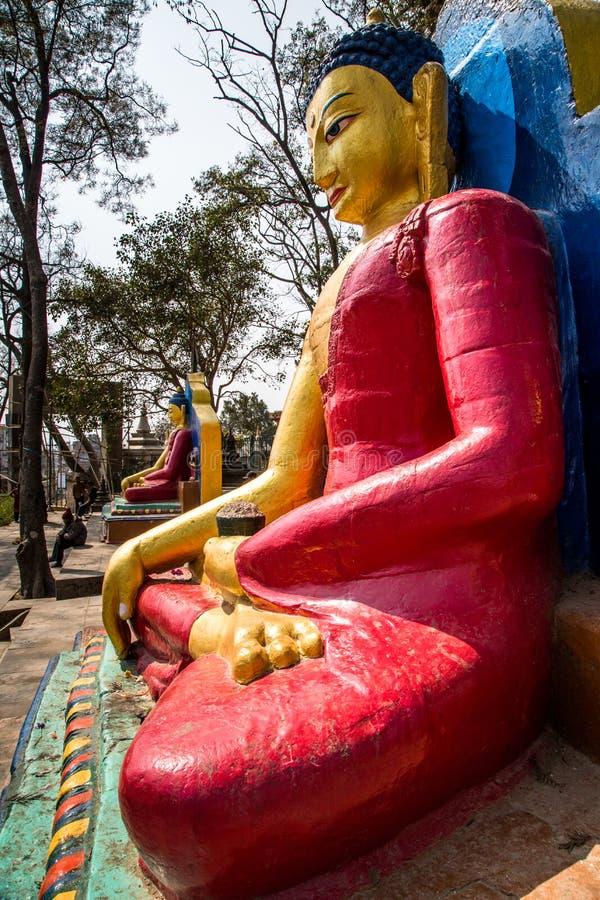 Estatua de Buda, Swayambhunath, Katmandu, Nepal imagen de archivo libre de regalías