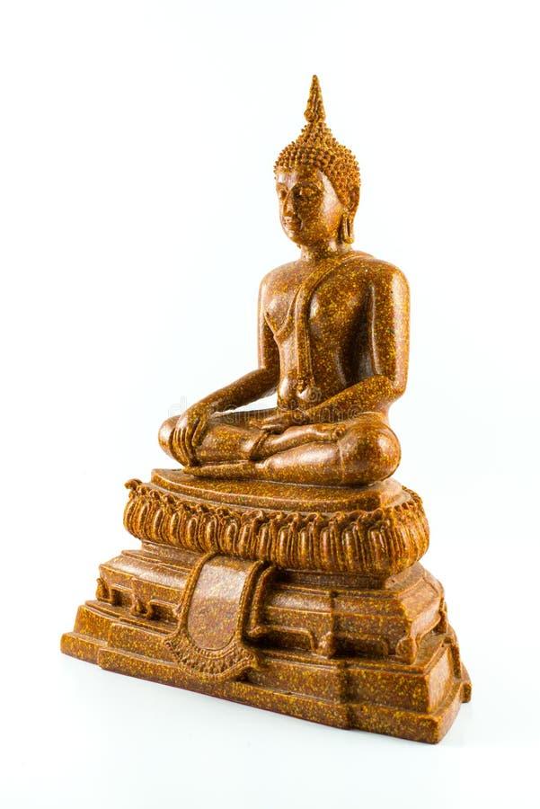Estatua de Buddha aislada imagenes de archivo
