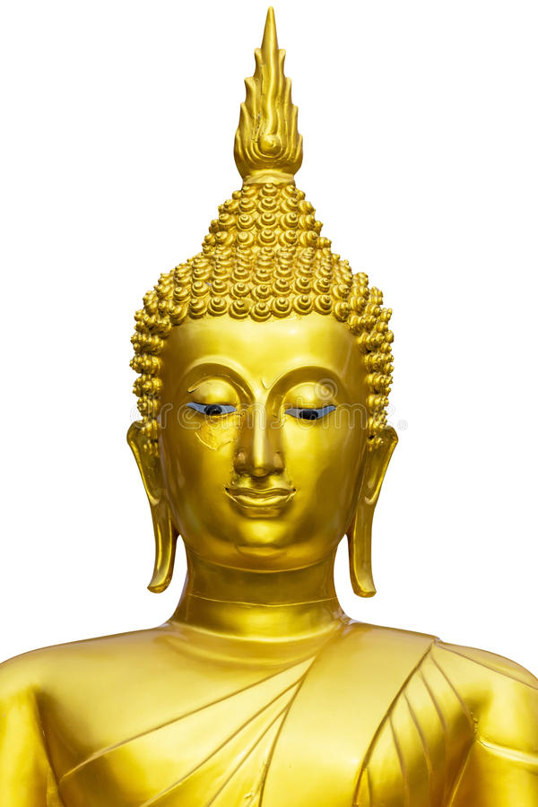 Estatua de Buddha aislada foto de archivo
