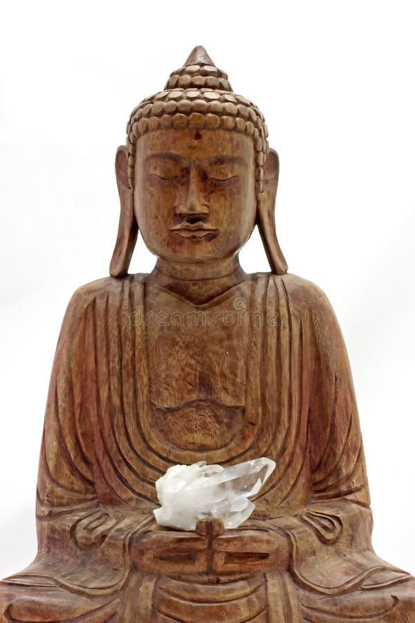 Estatua de Buddha de la madera fotos de archivo