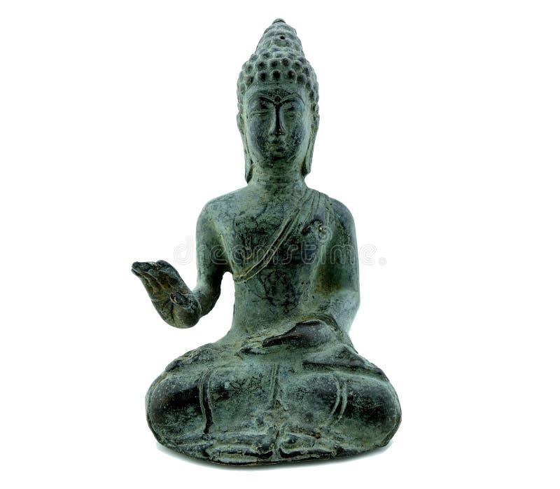Estatua de Budha aislada imagenes de archivo