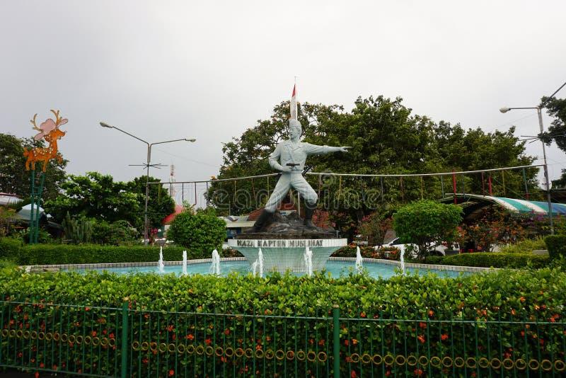 Estatua de capitán Tubagus Muslihat como un héroe nacional de Infonesia de Bogor Indonesia admitida foto fotografía de archivo