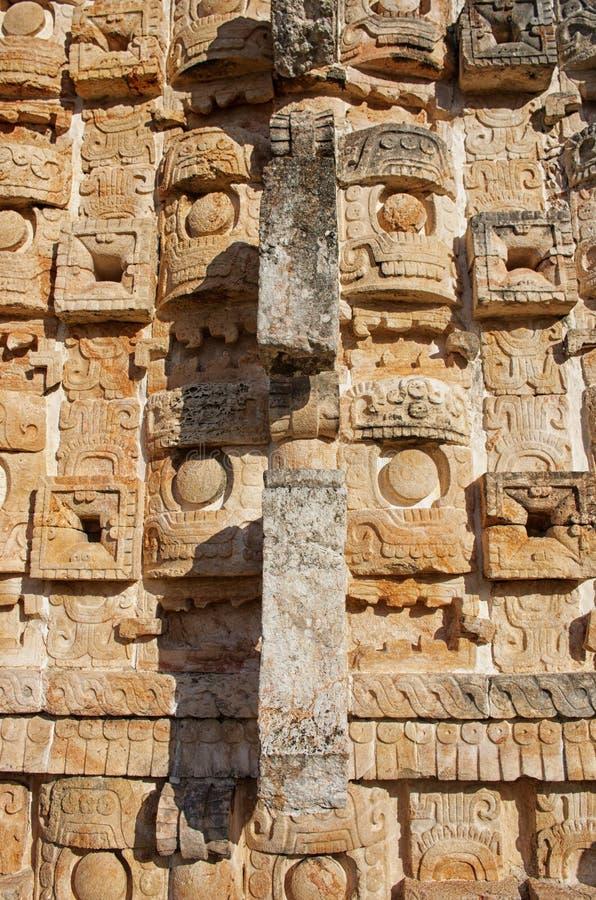 Estatua de Chaac en el palacio de las máscaras en Kabah, Yucatán, México imágenes de archivo libres de regalías
