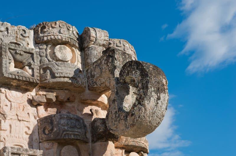 Estatua de Chaac en Kabah, Yucatán, México fotos de archivo libres de regalías