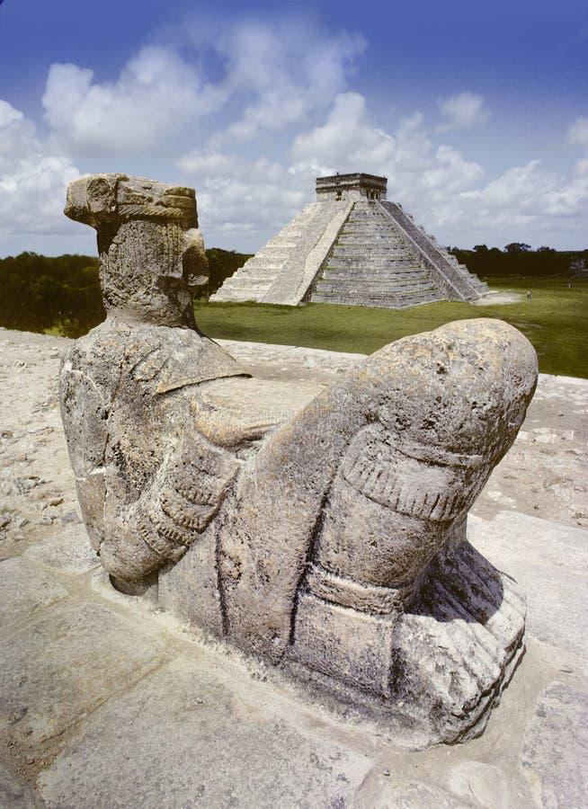 Estatua de Chak Mul imagen de archivo libre de regalías
