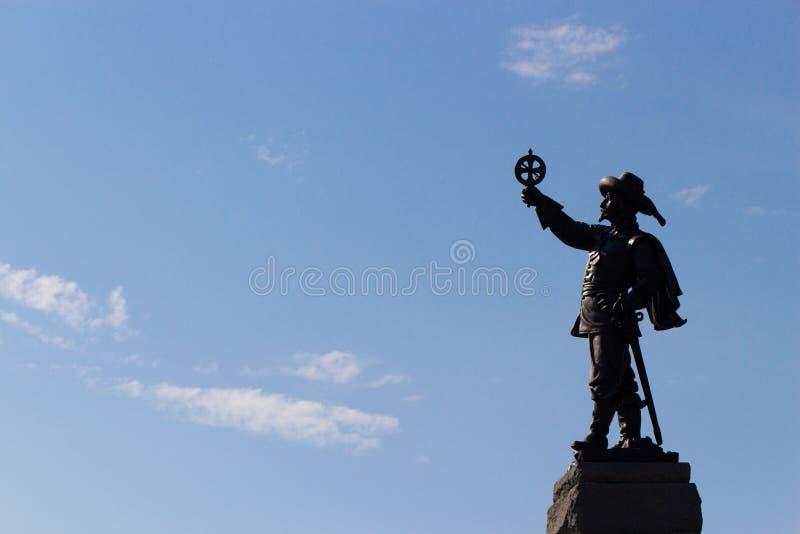 Estatua de Champlain foto de archivo libre de regalías