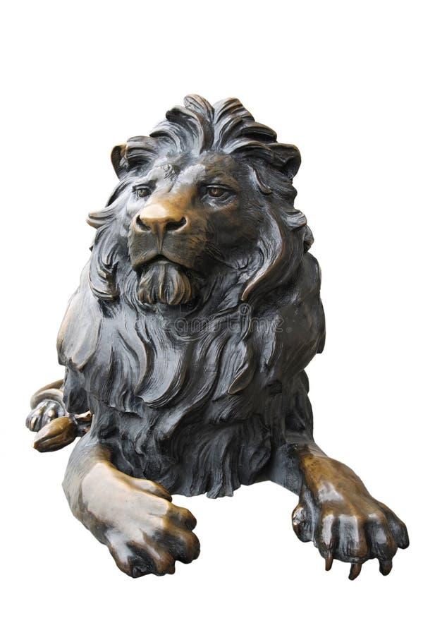 Estatua de cobre del león foto de archivo