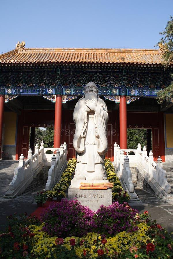 Estatua de Confucio foto de archivo libre de regalías