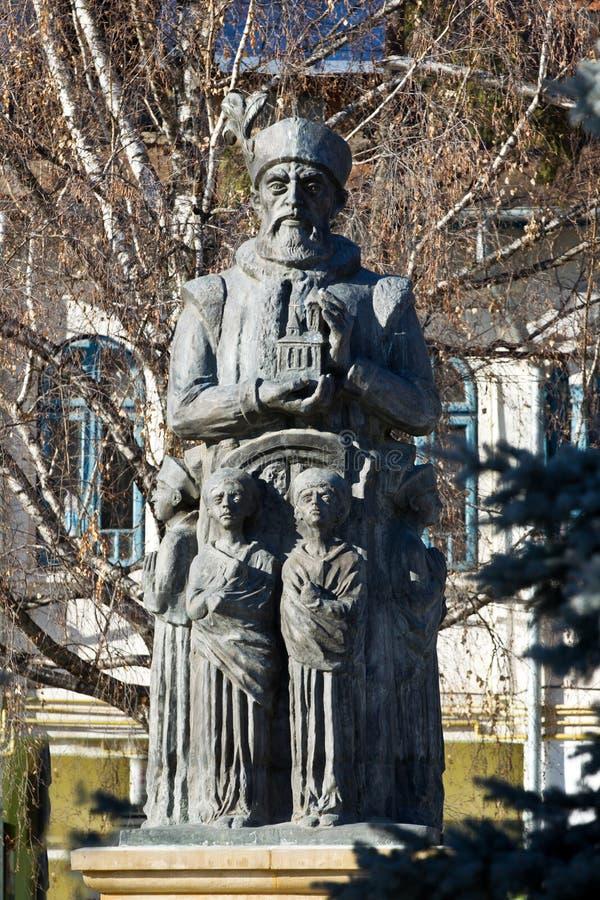 Estatua de Constantin Brancoveanu foto de archivo