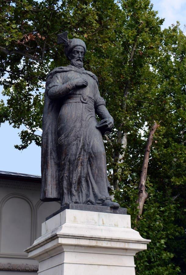 Estatua de Constantin Brancoveanu, Bucarest, Rumania imagen de archivo