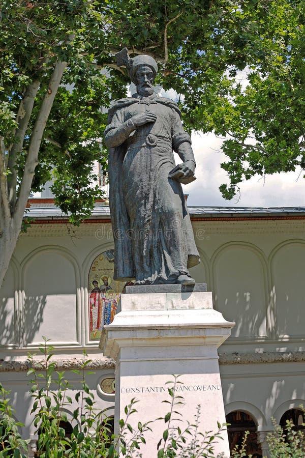 Estatua de Constantin Brancoveanu en Bucarest, Rumania imagen de archivo