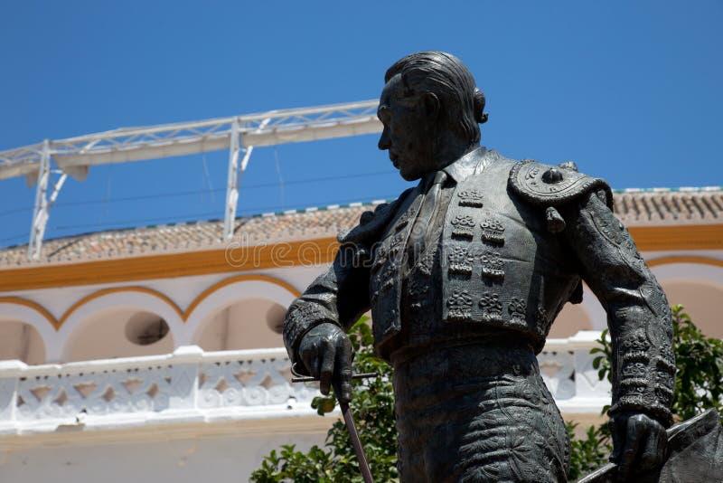 Estatua de Curro Romero foto de archivo libre de regalías
