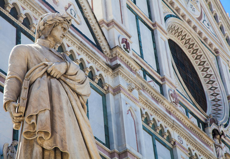 Estatua de Dante fotos de archivo