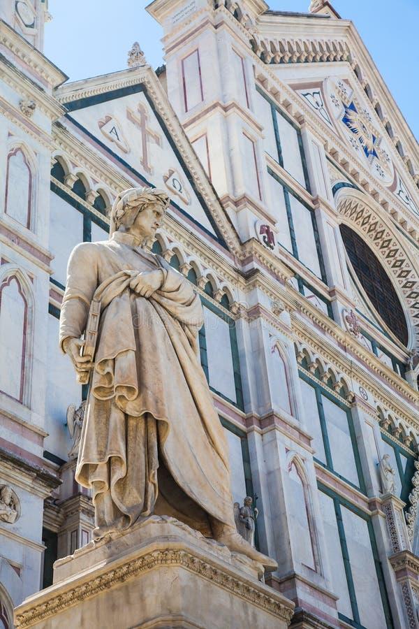 Estatua de Dante fotografía de archivo libre de regalías