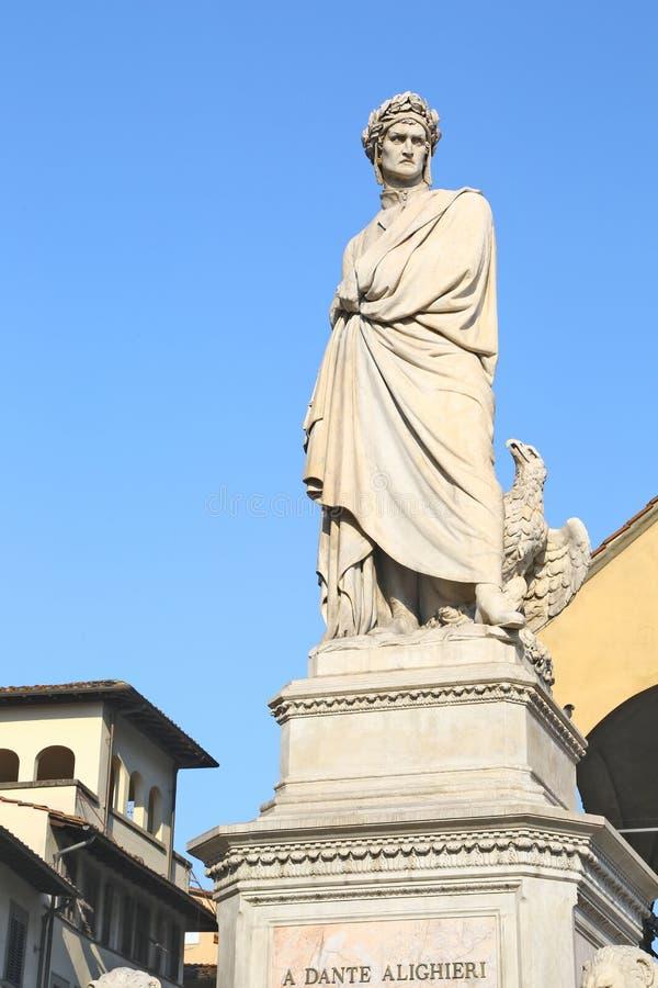 Estatua de Dante Alighieri en Florencia, Italia fotografía de archivo libre de regalías