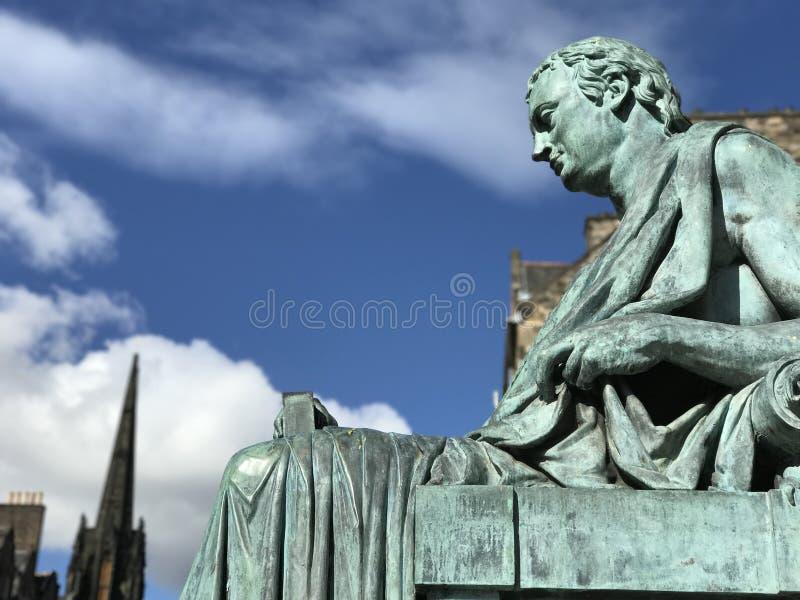 Estatua de David Hume foto de archivo libre de regalías